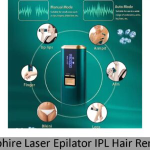 ✓ Sapphire Laser Epilator IPL Hair Removal Device Women Men Home Photoepilation Painless Facial Ice