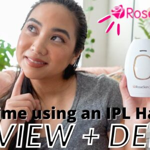 ROSESKINCO IPL LASER HAIR REMOVAL AT HOME | RESULTS IN 12 WEEKS?