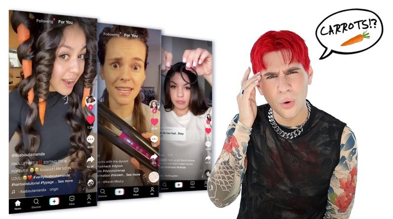 I Tried Weird Tiktok Hair Hacks So You Don't Have To! Pt. 2